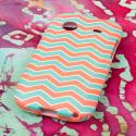 ZTE Whirl - Mint Chevron MPERO SNAPZ - Rubberized Case Cover Angle 3