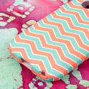 ZTE Whirl - Mint Chevron MPERO SNAPZ - Rubberized Case Cover Angle 7