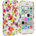 Apple iPhone 5C Colorful Flower TPU Design Soft Case Cover Angle 1