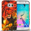 Samsung Galaxy S6 Lion Family TPU Design Soft Rubber Case Cover Angle 1