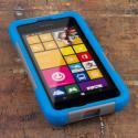 Nokia Lumia 530 - Blue / Gray MPERO IMPACT X - Kickstand Case Cover Angle 2