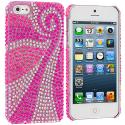 Apple iPhone 5/5S/SE Phoenix Tail Bling Rhinestone Case Cover Angle 1