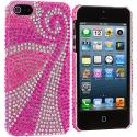 Apple iPhone 5/5S/SE Phoenix Tail Bling Rhinestone Case Cover Angle 2