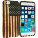 Apple iPhone 6 6S (4.7) USA Flag TPU Design Soft Case Cover Angle 1