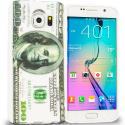 Samsung Galaxy S6 Hundred Dollars TPU Design Soft Rubber Case Cover Angle 1