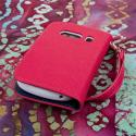 ZTE Aspect - Hot Pink MPERO FLEX FLIP Wallet Case Cover Angle 3