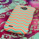 ZTE Reef - Mint Chevron MPERO SNAPZ - Rubberized Case Cover Angle 3