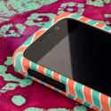 ZTE Reef - Mint Chevron MPERO SNAPZ - Rubberized Case Cover Angle 4
