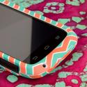 ZTE Reef - Mint Chevron MPERO SNAPZ - Rubberized Case Cover Angle 5