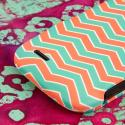 ZTE Reef - Mint Chevron MPERO SNAPZ - Rubberized Case Cover Angle 7