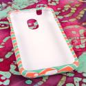 Samsung Epic 4G Touch - Mint Chevron MPERO SNAPZ - Rubberized Case Cover Angle 2