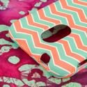 Samsung Epic 4G Touch - Mint Chevron MPERO SNAPZ - Rubberized Case Cover Angle 6
