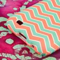 Samsung Epic 4G Touch - Mint Chevron MPERO SNAPZ - Rubberized Case Cover Angle 7