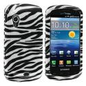 Samsung Stratosphere i405 Black / White Zebra Design Crystal Hard Case Cover Angle 1