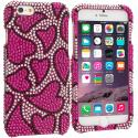 Apple iPhone 6 Plus 6S Plus (5.5) Nightly Hearts Bling Rhinestone Case Cover Angle 1