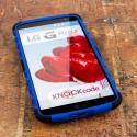 LG G Pro 2 - Blue MPERO IMPACT SR - Kickstand Case Cover Angle 2