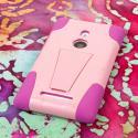 Nokia Lumia 925 - Pink MPERO IMPACT X - Kickstand Case Cover Angle 3