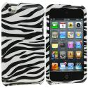 Apple iPod Touch 4th Generation Black / White Zebra Design Crystal Hard Case Cover Angle 1
