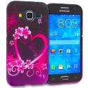 Samsung Galaxy Prevail LTE Core Prime G360P Purple Love TPU Design Soft Rubber Case Cover Angle 1
