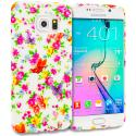 Samsung Galaxy S6 Edge Colorful Flower TPU Design Soft Rubber Case Cover Angle 1