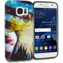 Samsung Galaxy S7 Edge USA Eagle TPU Design Soft Rubber Case Cover Angle 1