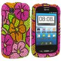 ZTE Avail Z990 Hot Pink Hawaii Bling Rhinestone Case Cover Angle 1