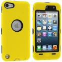Apple iPod Touch 5th 6th Generation Yellow Deluxe Hybrid Deluxe Hard/Soft Case Cover Angle 1