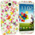 Samsung Galaxy S4 Colorful Flower TPU Design Soft Case Cover Angle 1