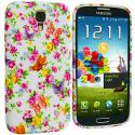 Samsung Galaxy S4 Colorful Flower TPU Design Soft Case Cover Angle 2