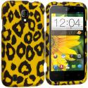 ZTE Majesty Z796C Black Leopard on Golden 2D Hard Rubberized Design Case Cover Angle 1