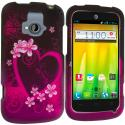 ZTE Radiant Purple Love 2D Hard Rubberized Design Case Cover Angle 1