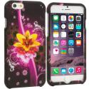 Apple iPhone 6 Plus 6S Plus (5.5) Pink Flower Explosion 2D Hard Rubberized Design Case Cover Angle 1
