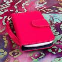 Huawei Vitria - Hot Pink MPERO FLEX FLIP Wallet Case Cover Angle 2