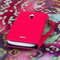 Huawei Vitria - Hot Pink MPERO FLEX FLIP Wallet Case Cover Angle 3