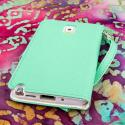 Samsung Galaxy Note 3 N900A N900V N9000 - Mint MPERO FLEX FLIP Wallet Case Angle 3