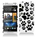 HTC One Mini Dog Paw Hard Rubberized Design Case Cover Angle 1