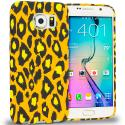 Samsung Galaxy S6 Leopard Print TPU Design Soft Rubber Case Cover Angle 1