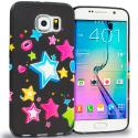 Samsung Galaxy S6 Edge Colorful Shooting Star TPU Design Soft Rubber Case Cover Angle 1