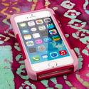 Apple iPhone 5/5S/SE - Hot Pink/ Pink MPERO IMPACT X - Kickstand Case Cover Angle 2