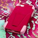 Apple iPhone 5/5S/SE - Hot Pink/ Pink MPERO IMPACT X - Kickstand Case Cover Angle 3