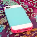 Apple iPhone 4 / 4S - Hot Pink / Mint MPERO Fusion Fit - Protective Case Angle 2