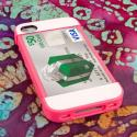 Apple iPhone 4 / 4S - Hot Pink / Mint MPERO Fusion Fit - Protective Case Angle 3
