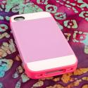 Apple iPhone 4 / 4S - Hot Pink / Mint MPERO Fusion Fit - Protective Case Angle 4