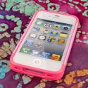 Apple iPhone 4 / 4S - Hot Pink / Mint MPERO Fusion Fit - Protective Case Angle 5