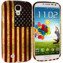 Samsung Galaxy S4 USA Flag TPU Design Soft Case Cover Angle 1