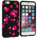Apple iPhone 6 Plus 6S Plus (5.5) Raining Hearts TPU Design Soft Rubber Case Cover Angle 1