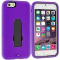 Apple iPhone 6 Plus 6S Plus (5.5) Purple / Black Hybrid Heavy Duty Hard Soft Case Cover with Kickstand Angle 2