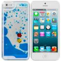 Apple iPhone 5/5S/SE Blue Fish Tank 3D Liquid Hard Case Cover Angle 1