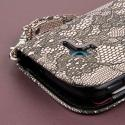 Samsung Galaxy Exhibit - Black Lace MPERO FLEX FLIP Wallet Case Cover Angle 6