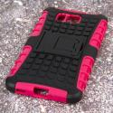 Samsung Galaxy Alpha - Hot Pink MPERO IMPACT SR - Kickstand Case Cover Angle 3